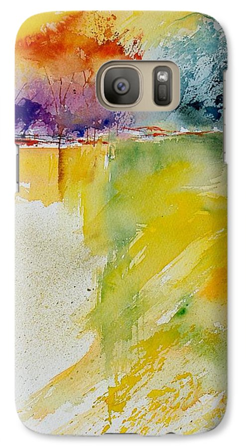 Pond Galaxy S7 Case featuring the painting Watercolor 800142 by Pol Ledent
