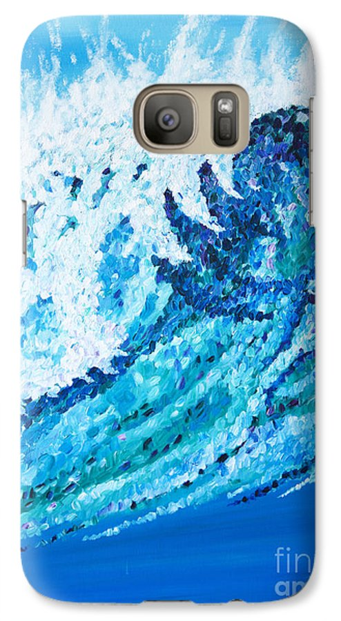 Ocean Galaxy S7 Case featuring the painting Watercolor by JoAnn DePolo