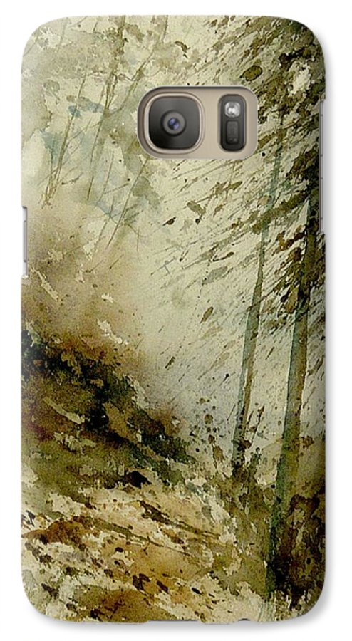 Landscape Galaxy S7 Case featuring the painting Watercolor Misty Atmosphere by Pol Ledent