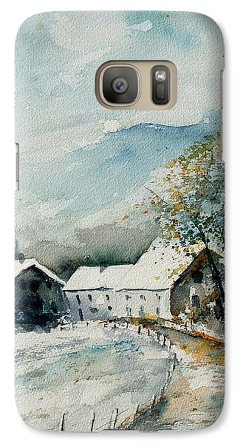 River Galaxy S7 Case featuring the painting Watercolor Sechery 1207 by Pol Ledent