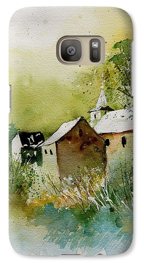 Landscape Galaxy S7 Case featuring the painting Watercolor Sosoye by Pol Ledent