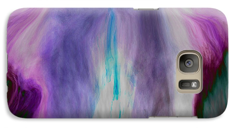 Abstract Art Galaxy S7 Case featuring the digital art Waterfall by Linda Sannuti