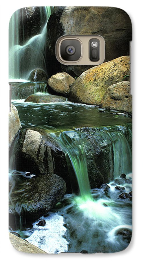 Water Galaxy S7 Case featuring the photograph Waterfall On Maui by Carl Purcell