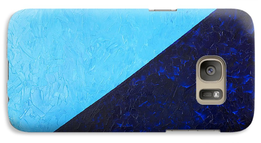 Impasto Galaxy S7 Case featuring the painting Water's Edge by JoAnn DePolo