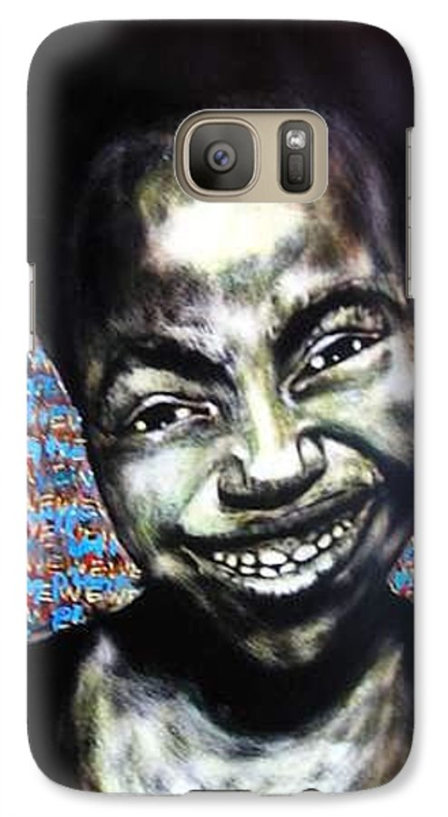 Galaxy S7 Case featuring the mixed media We Play by Chester Elmore