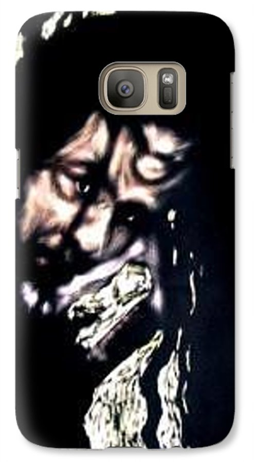 Portrait Galaxy S7 Case featuring the mixed media Wear My Crown Down by Chester Elmore