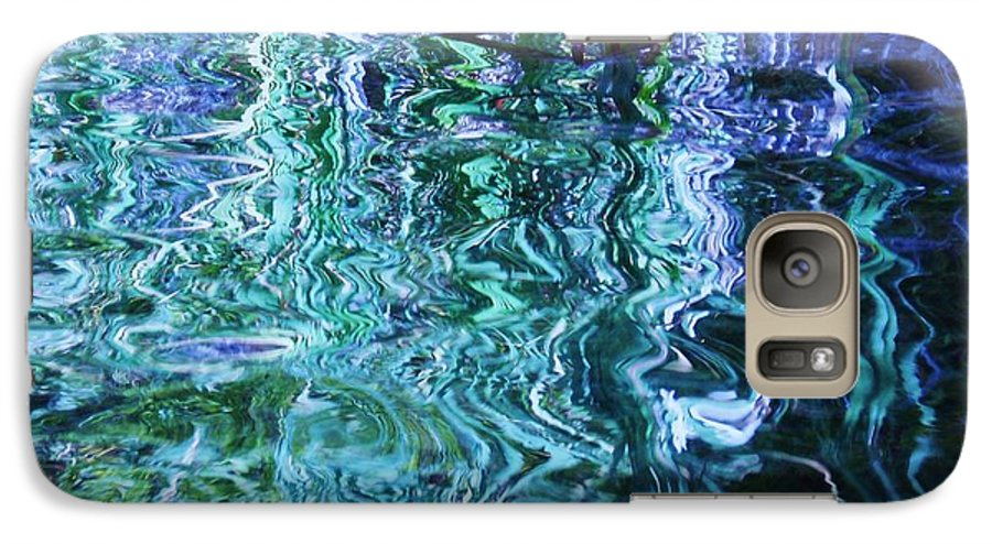 Photograph Blue Green Weed Shadow Lake Water Galaxy S7 Case featuring the photograph Weed Shadows by Seon-Jeong Kim