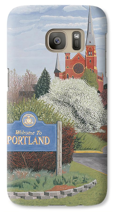 Church Galaxy S7 Case featuring the painting Welcome To Portland by Dominic White