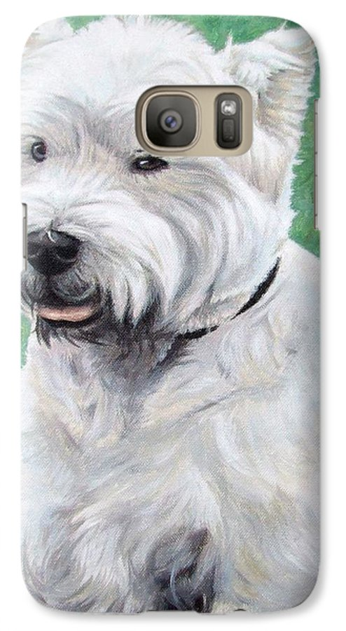 Dog Galaxy S7 Case featuring the painting West Highland Terrier by Nicole Zeug