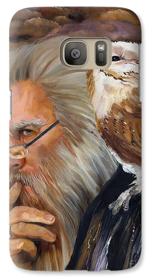 Wizard Galaxy S7 Case featuring the painting What If... by J W Baker