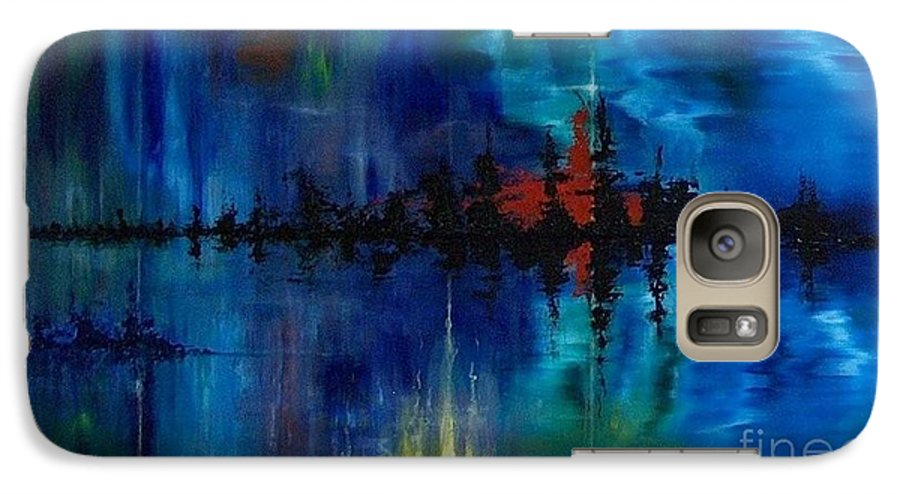 Non Objective Galaxy S7 Case featuring the painting What Lies Beneath by M J Venrick