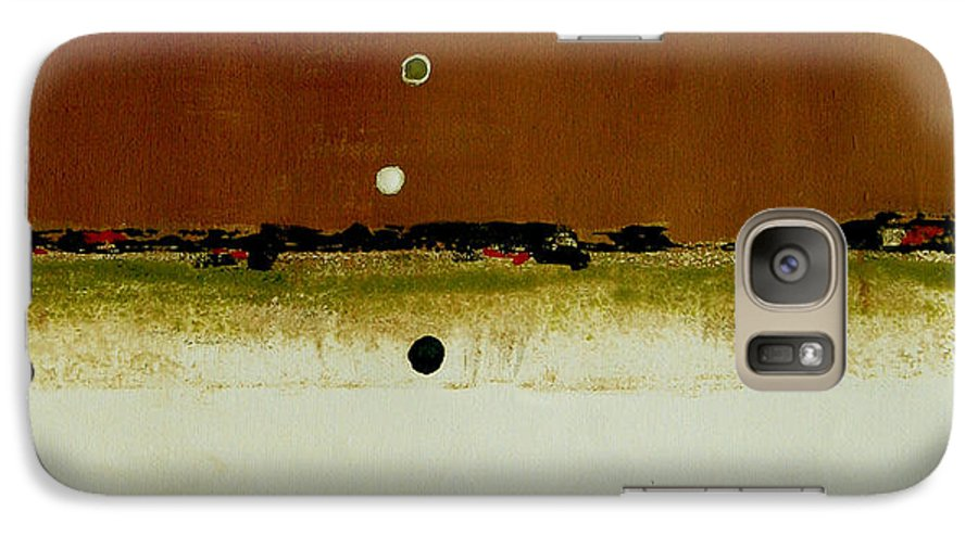 Abstract Galaxy S7 Case featuring the painting Whats Your Line by Ruth Palmer