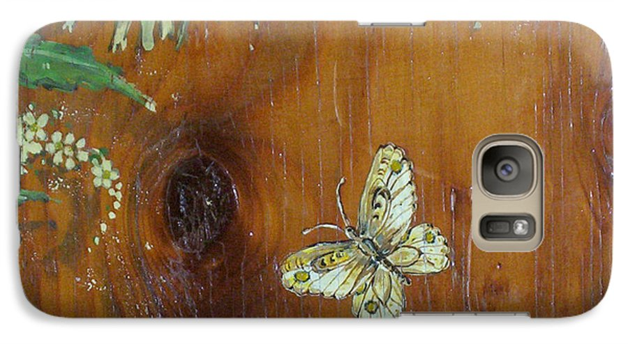 Wildflowers Galaxy S7 Case featuring the painting Wheat 'n' Wildflowers II by Phyllis Mae Richardson Fisher