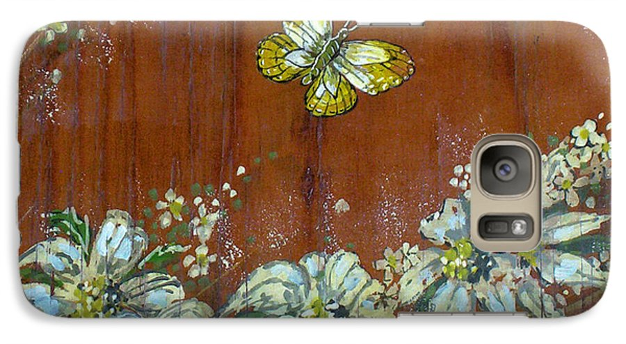 Wildflowers Galaxy S7 Case featuring the painting Wheat 'n' Wildflowers IIi by Phyllis Mae Richardson Fisher