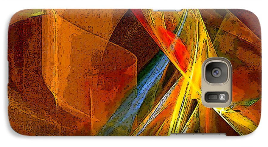 Abstract Galaxy S7 Case featuring the digital art When Paths Cross by Ruth Palmer