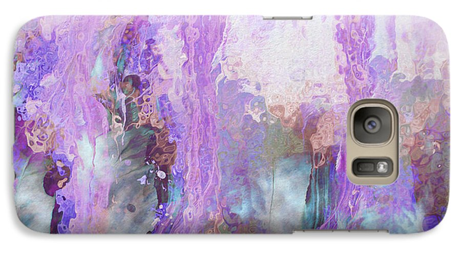 Abstract Art Galaxy S7 Case featuring the digital art Whisper Softly by Linda Murphy