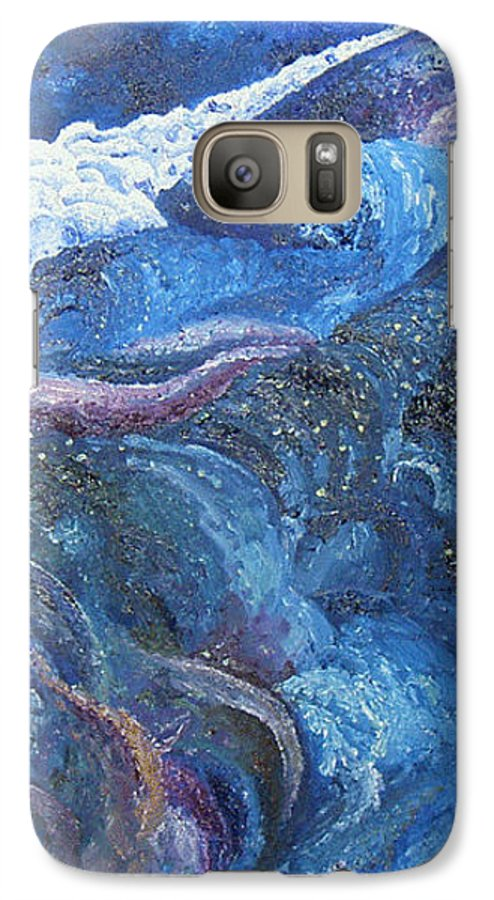 Baby Lambs Galaxy S7 Case featuring the painting White Baby Lambs Of Peaceful Nights by Karina Ishkhanova