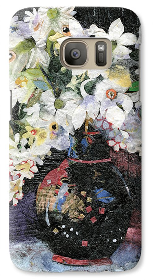 Limited Edition Prints Galaxy S7 Case featuring the painting White Celebration by Nira Schwartz