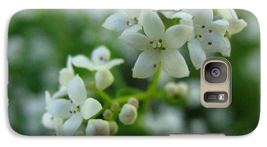 Flower Galaxy S7 Case featuring the photograph White Floral Cluster by Melissa Parks
