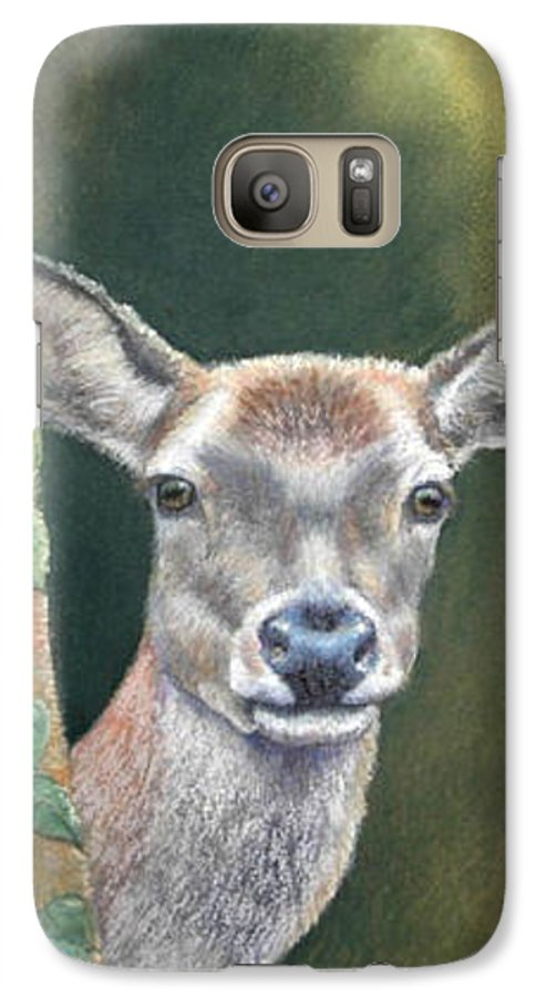 Rainforest Galaxy S7 Case featuring the painting White Tail Doe At Ancon Hill by Ceci Watson