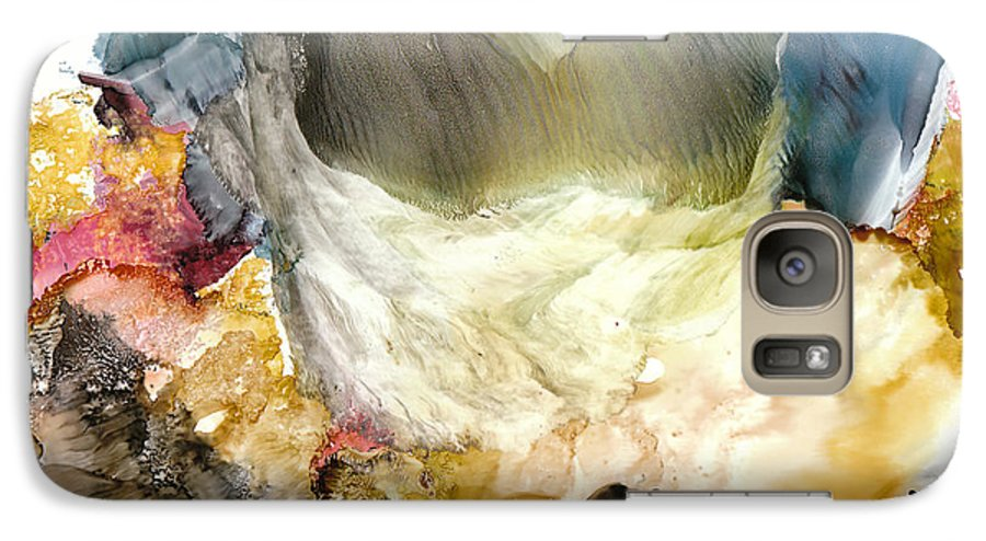 Whitewater Galaxy S7 Case featuring the painting Whitewater Rapids by Susan Kubes