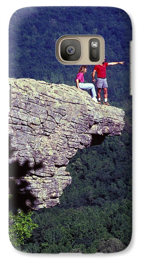 Geological Galaxy S7 Case featuring the photograph Whittiker Point In Arkansas by Carl Purcell