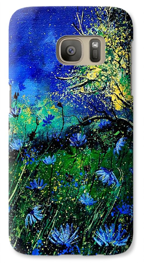 Poppies Galaxy S7 Case featuring the painting Wild Chocoree by Pol Ledent