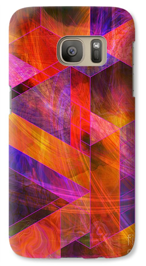 Wild Fire Galaxy S7 Case featuring the digital art Wild Fire by John Beck