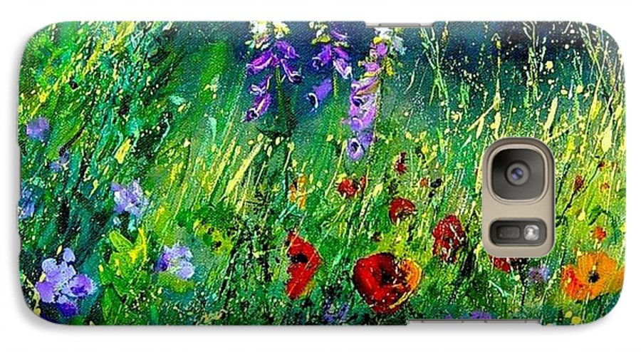 Poppies Galaxy S7 Case featuring the painting Wild Flowers by Pol Ledent