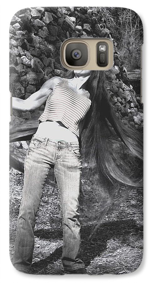 Hair Galaxy S7 Case featuring the photograph Wild Hair by Debbie May