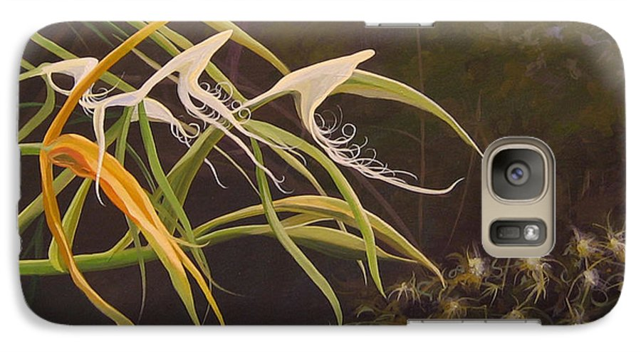 Caribbean Galaxy S7 Case featuring the painting Wild Orchids by Hunter Jay