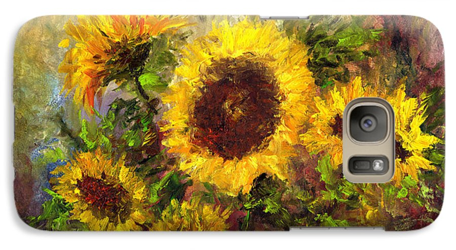 Vincent Van Gogh Galaxy S7 Case featuring the painting Wild Sun by Laura Swink