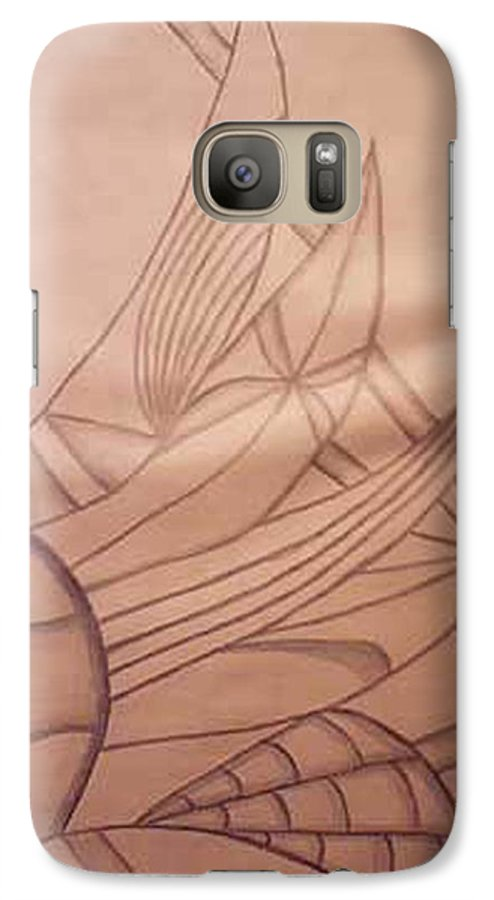 Abstract Galaxy S7 Case featuring the drawing Wild Vines by Natalee Parochka