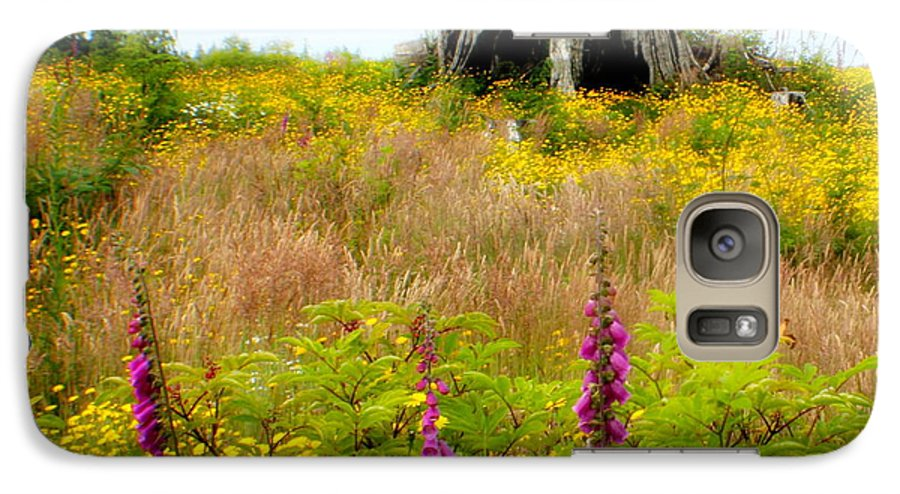 Stump Galaxy S7 Case featuring the photograph Wildflowers by Idaho Scenic Images Linda Lantzy