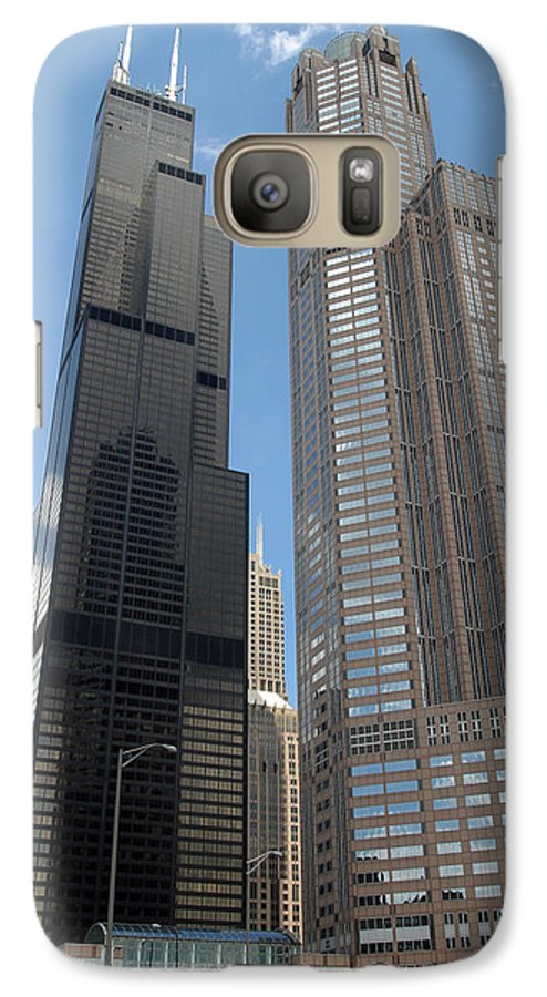 3scape Galaxy S7 Case featuring the photograph Willis Tower Aka Sears Tower And 311 South Wacker Drive by Adam Romanowicz