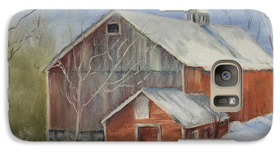 Barn Galaxy S7 Case featuring the painting Williston Barn by Carol Mueller