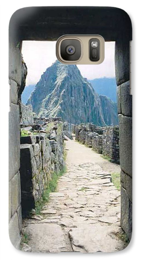 Peru Galaxy S7 Case featuring the photograph Winay Picchu by Kathy Schumann