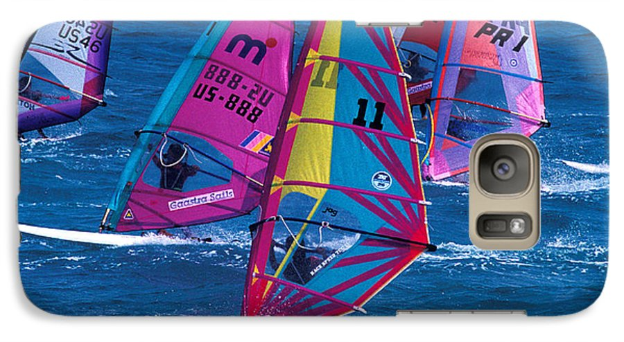 Wind Galaxy S7 Case featuring the photograph Wind Surfers In Nassau by Carl Purcell
