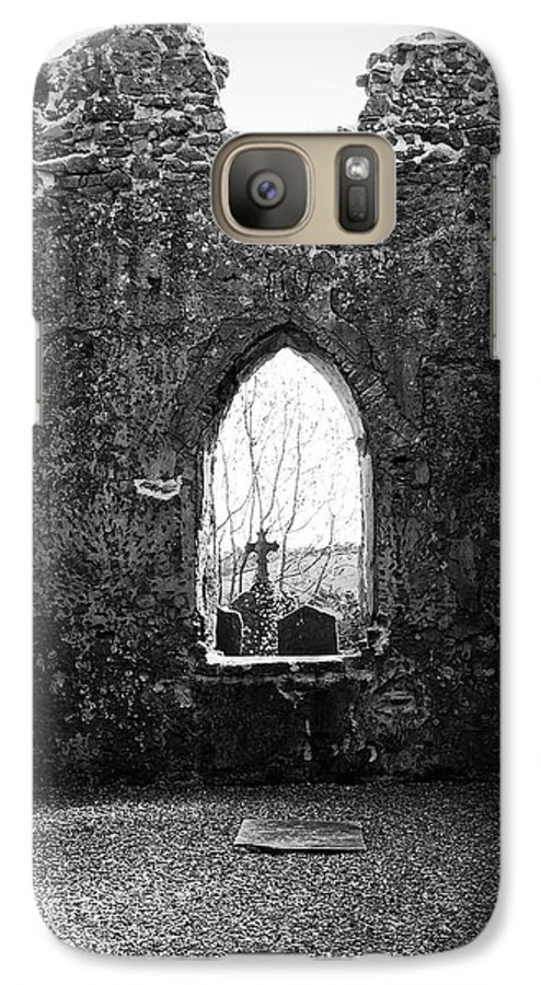Ireland Galaxy S7 Case featuring the photograph Window At Fuerty Church Roscommon Ireland by Teresa Mucha