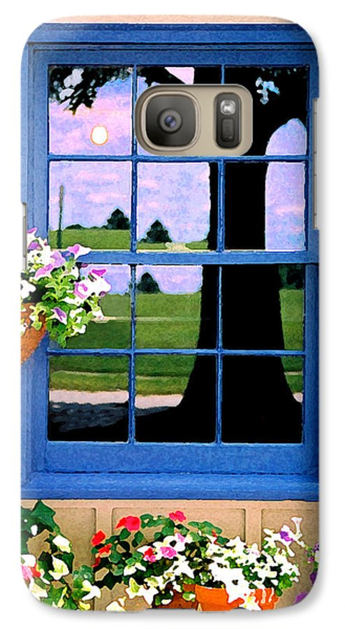 Still Life Galaxy S7 Case featuring the photograph Window by Steve Karol
