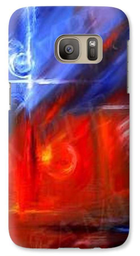 Abstracts Galaxy S7 Case featuring the painting Windows by James Christopher Hill