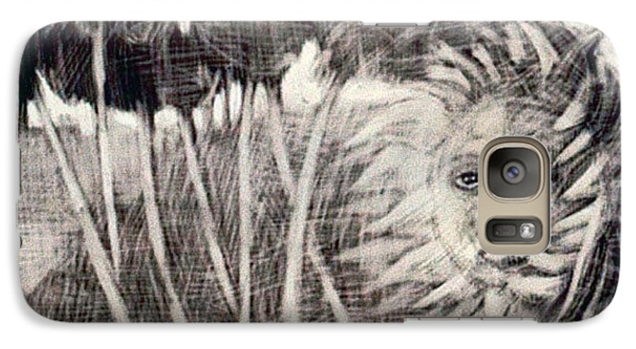 Galaxy S7 Case featuring the mixed media Windy by Chester Elmore