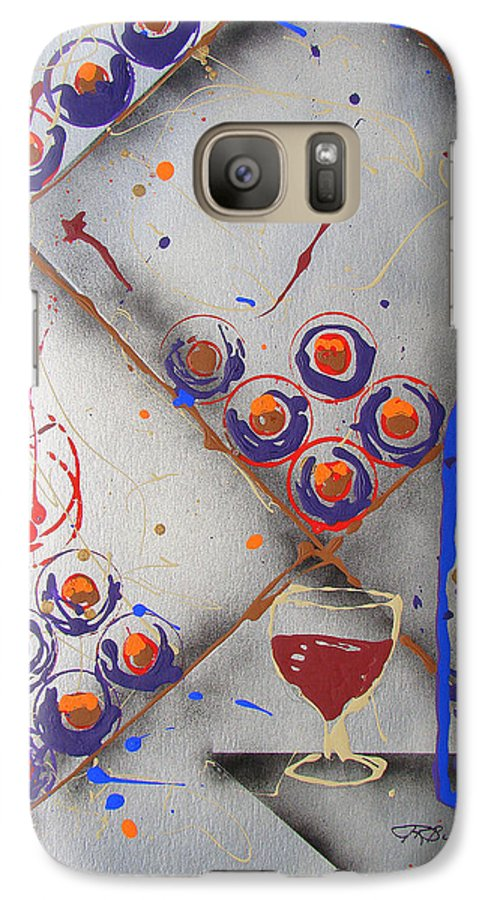 Wine Galaxy S7 Case featuring the painting Wine Connoisseur by J R Seymour