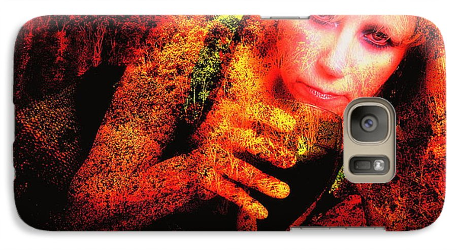 Clay Galaxy S7 Case featuring the photograph Wine Woman And Fall Colors by Clayton Bruster