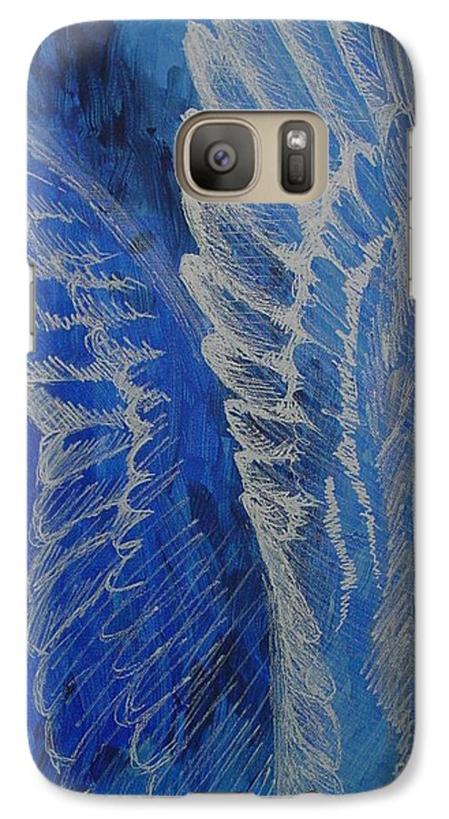 Acrylic Galaxy S7 Case featuring the painting Wings Of Angel by Jindra Noewi