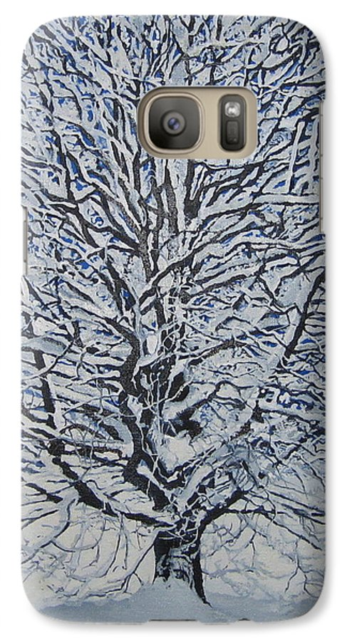 Winter Galaxy S7 Case featuring the painting Winter '05 by Leah Tomaino