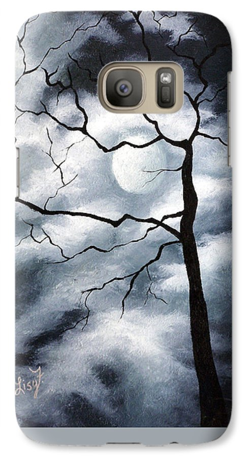 Winter Galaxy S7 Case featuring the painting Winter Evening by Elizabeth Lisy Figueroa