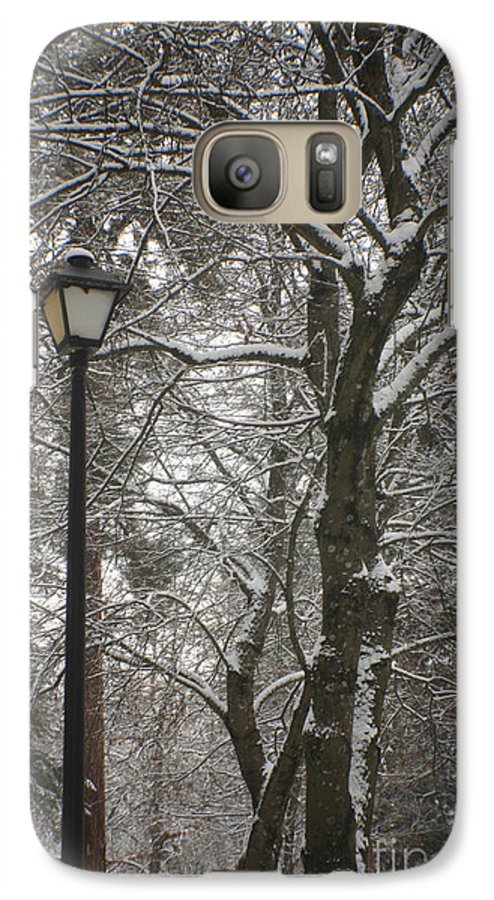 Lamp Galaxy S7 Case featuring the photograph Winter Lamp Post by Idaho Scenic Images Linda Lantzy