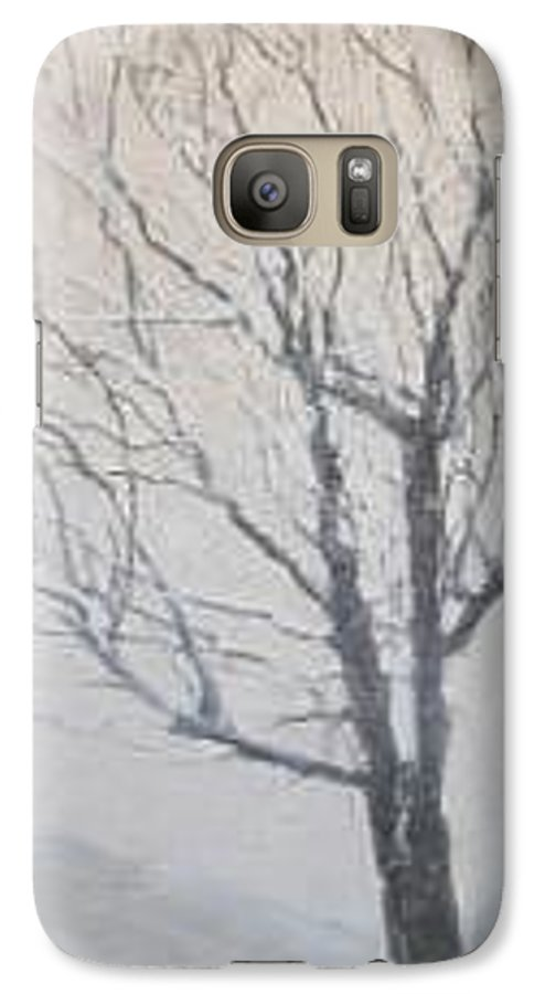 Tree Galaxy S7 Case featuring the painting Winter by Leah Tomaino