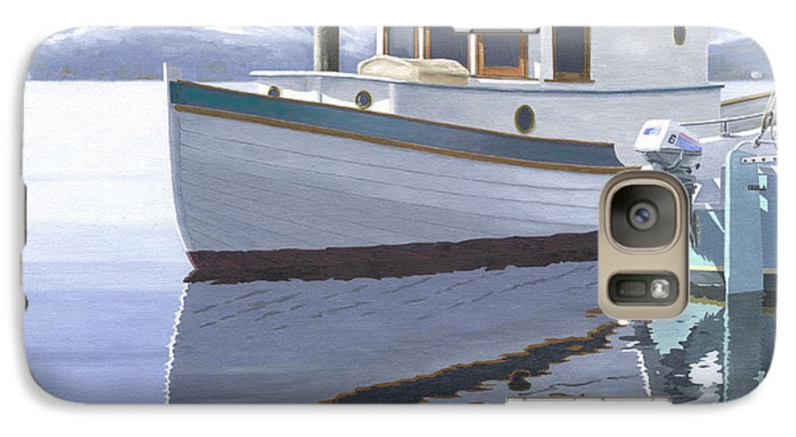 Marine Galaxy S7 Case featuring the painting Winter Moorage by Gary Giacomelli